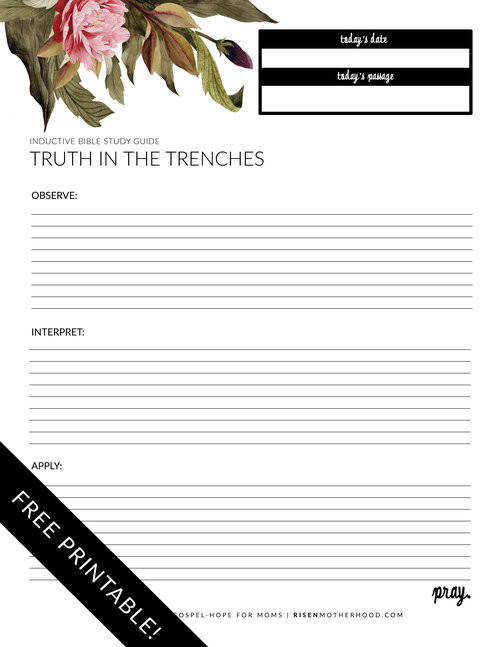 Print off 25 50 of these worksheets as a guide to help keep your thoughts organized as you sit down each week to learn more about the text