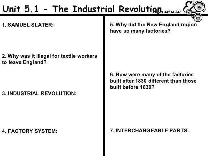Unit 5 1 The Industrial Revolution 1 SAMUEL SLATER 2