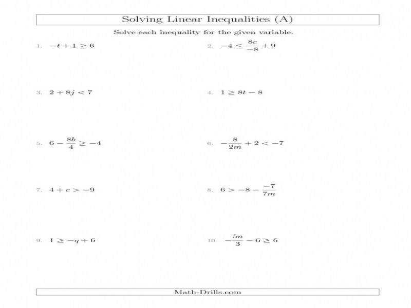 Solving pound Inequalities Worksheet Answers Semnext