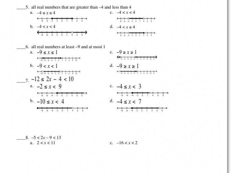 Answers To Inequalities Worksheet – Youtube