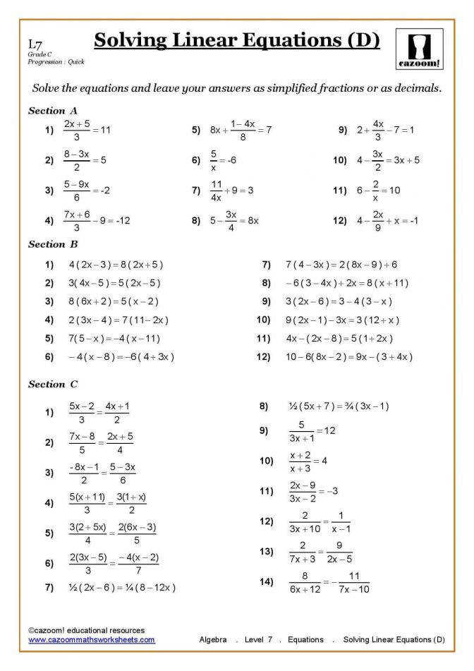 Ks3 Ks4 Maths Worksheets Printable With Answers Math Inequalities 7th Grade Al Math Inequalities Worksheets Worksheet