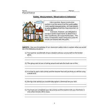 Safety Measurement Observation & Inference Worksheet