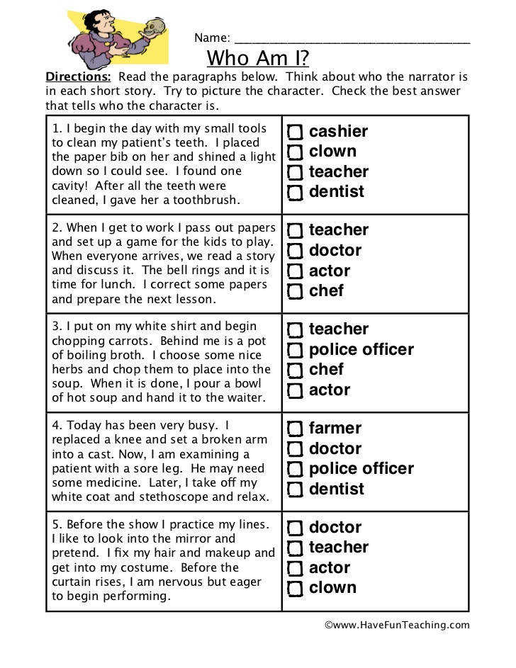 Inference worksheet who Name
