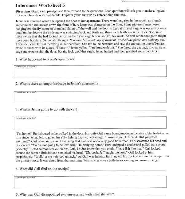 to the original worksheet adapted inferences worksheet