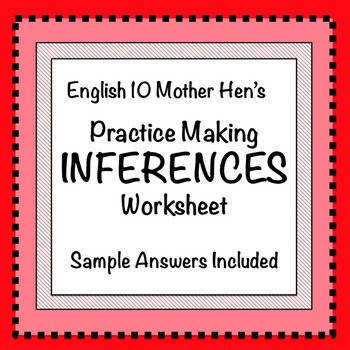 Practice Making Inferences Worksheet