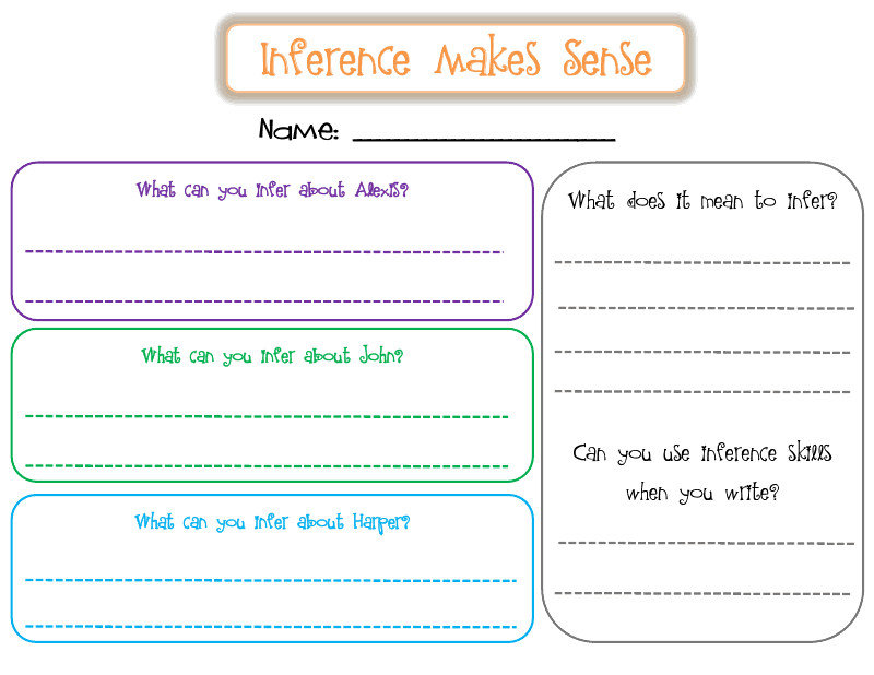 3Rd Grade Inferencing Worksheets