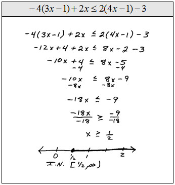 pound inequalities can be split up or solved in one step like the following examples