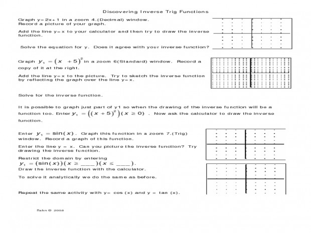 Inverse functions worksheet with answers icon Inverse Functions Worksheet With Answers Discovering Trig Capture Dreamy