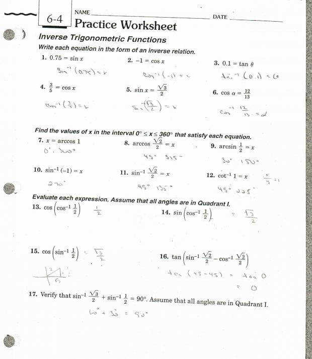 Inverse functions worksheet with answers icon Inverse Functions Worksheet With Answers 20practice 207 5 6 Illustration