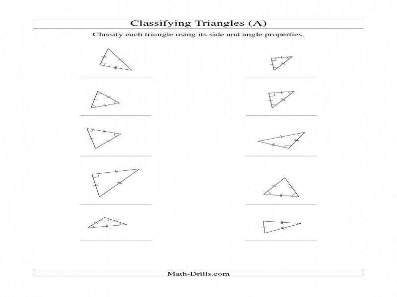 Classifying Trianglesangle And Side Properties A