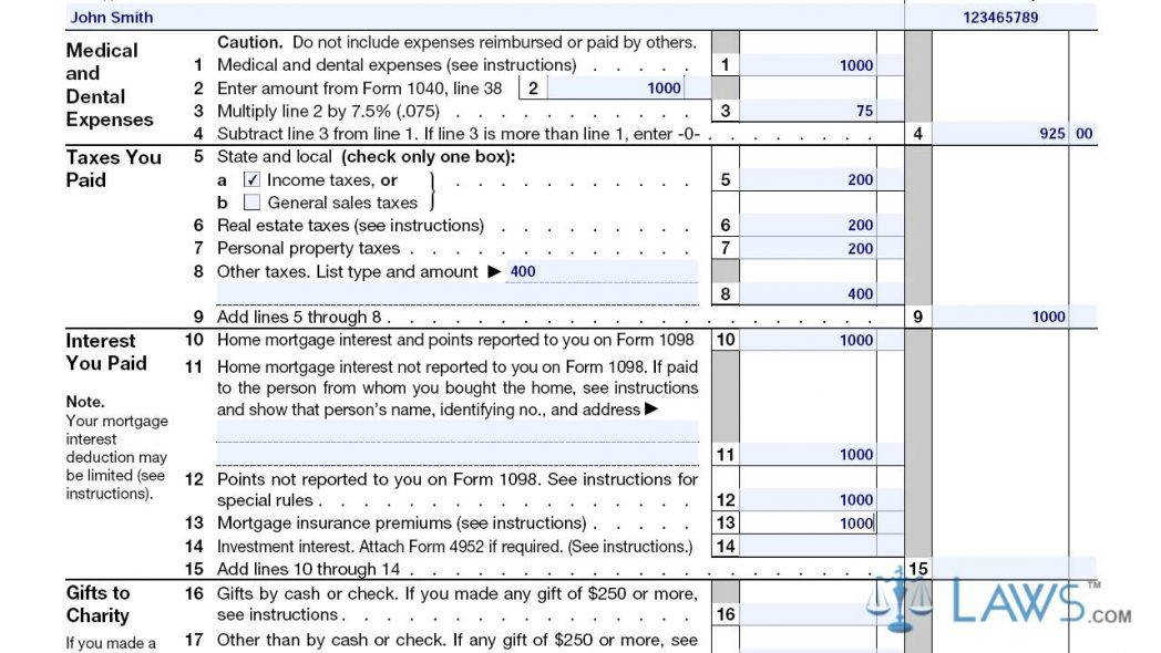 Itemized Deductions Form 1040 Schedule A Youtube Irs Maxresde Itemized Deductions Form Form