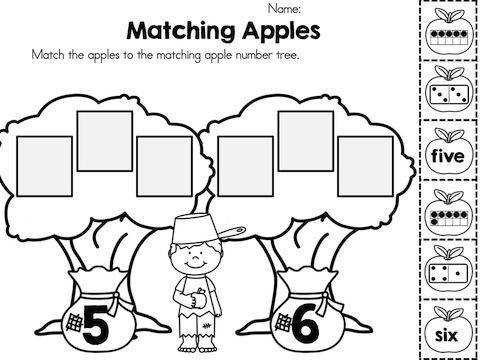 Apple Time No Prep Worksheets Johnny AppleseedNumber