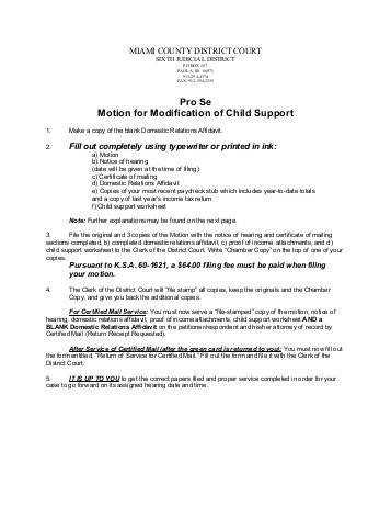 Kansas Child Support Worksheet Templates and Worksheets