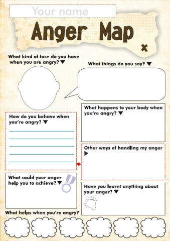 Free Anger and Feelings Worksheets