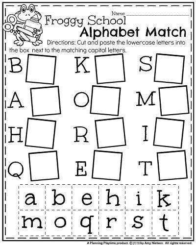 Kindergarten Alphabet Worksheets