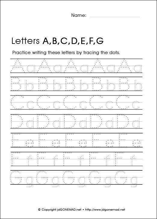 Free Kindergarten Letter Worksheets 26