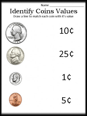 It looks like you re interested in our Identify Coin Values We also offer many different Money Worksheets on our site so check us out now and to