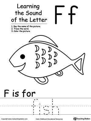 Learning Beginning Letter Sound F