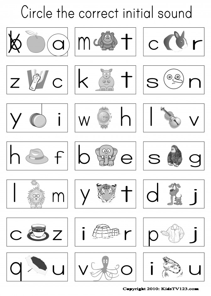 Kindergarten Phonics Worksheets Wallpapercraft Free Download