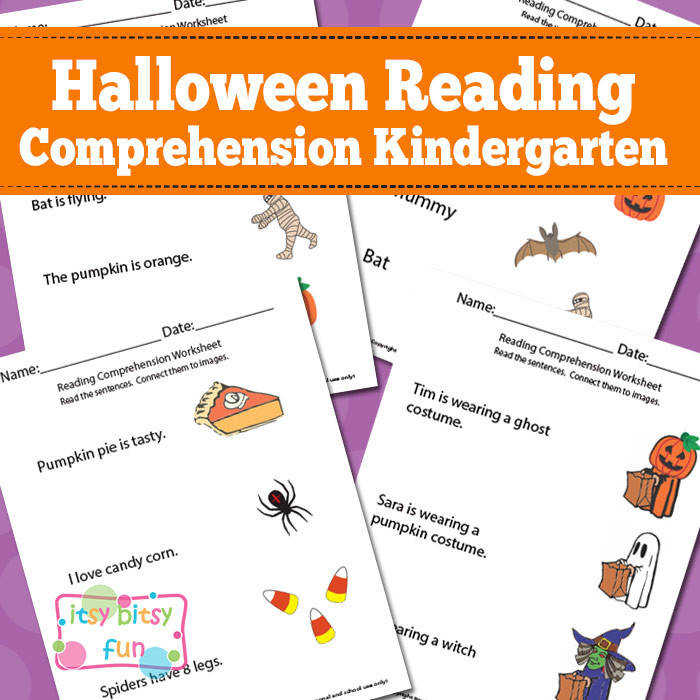 Halloween Kindergarten Reading prehension