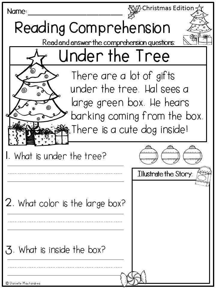 Reading prehension Passages December Kindergarten & 1st