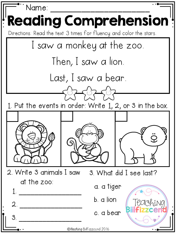 FREE Sequencing Reading prehension For Beginning Readers Set 3 · Activities For Kindergarten ChildrenEnglish Worksheets