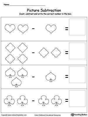 Learn Subtraction Using Shapes