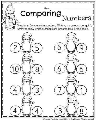 Winter Counting Worksheet Winter Sports – Fill in the Missing Numbers Penguin paring Numbers