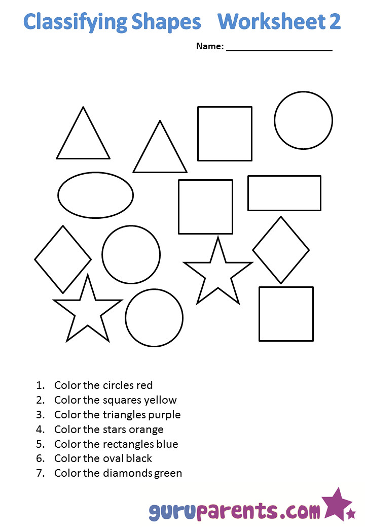Classifying shapes 1 Classifying shapes 2