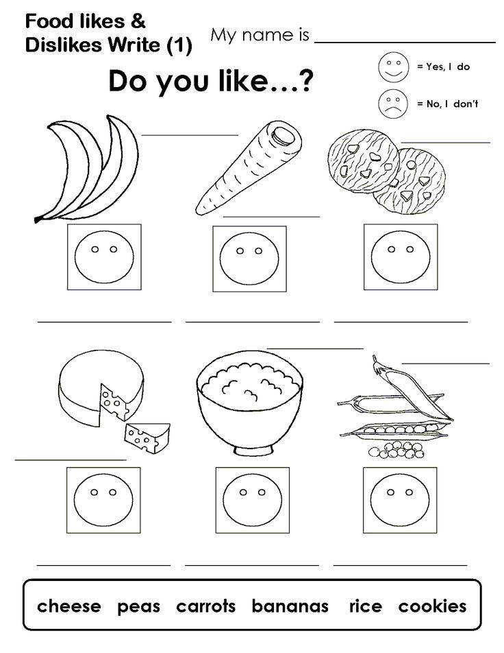 likes and dislikes worksheets pdf Google Search