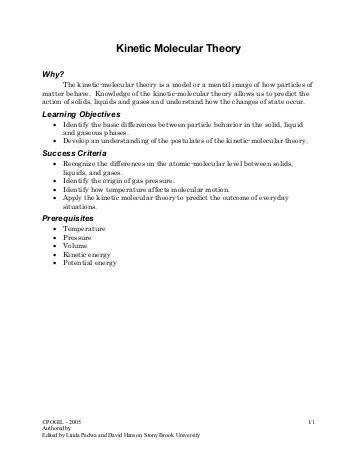 kinetic molecular theory pogil answer pdf worksheet 9 partial pressures and the kinetic molecular theory of