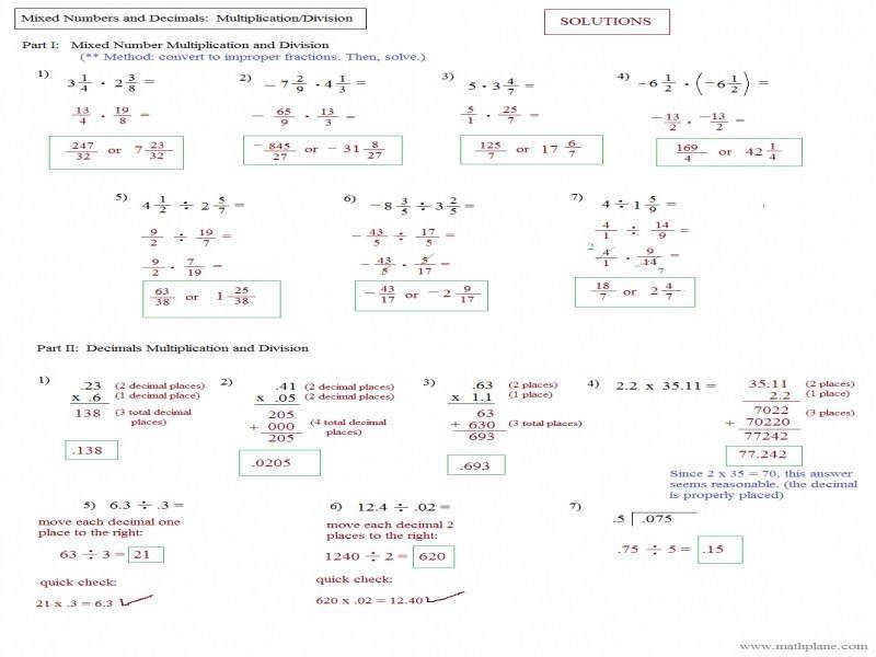 Multiplying Fractions Worksheets Kuta & Worksheet Mixed Operations