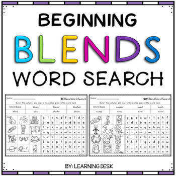 Beginning Blends Worksheets L R and S Blends Worksheets