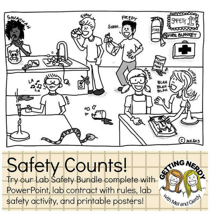 Tools for encouraging safety practices in the science lab