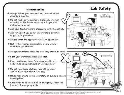 Science Printables and Worksheets pletely Bilingual Lab Safety