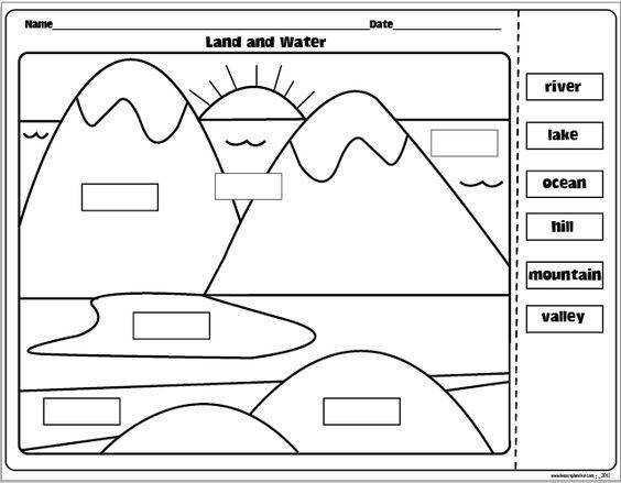 The Lesson Plan Diva Landforms and Bo s of Water FREEBIE Can purchase the