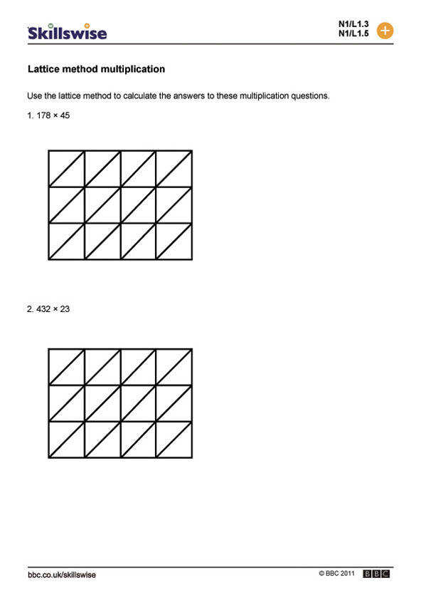 Pen and paper methods worksheet preview