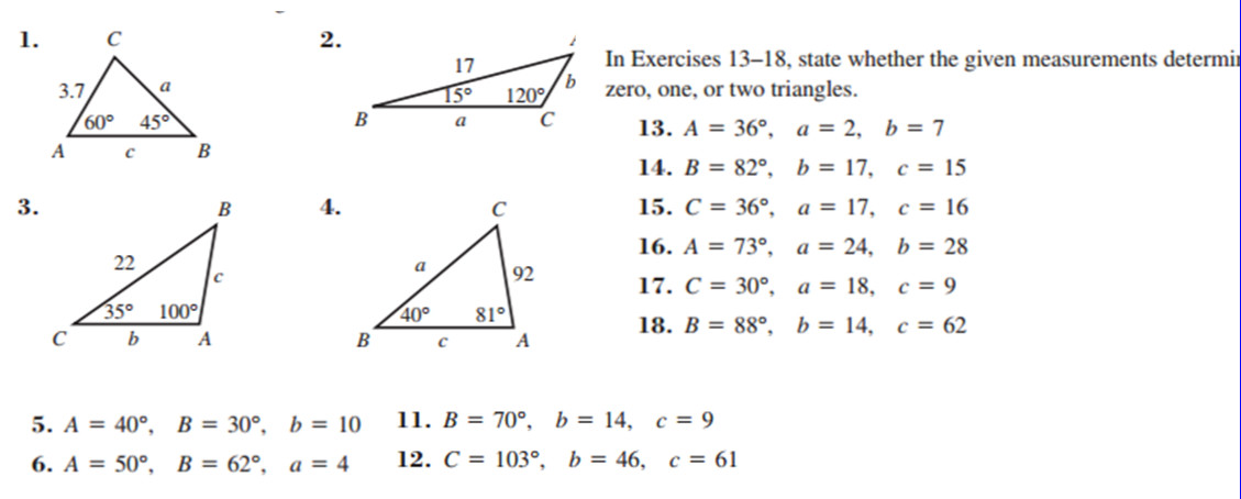 1 25 Law of Cosines Worksheet Solutions 1 26 Area of a Triangle worksheet Solutions 1 27 Extra Application Problems Solutions