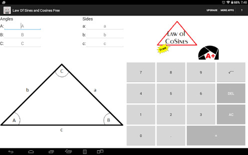 Law of Sines and Cosines Free screenshot thumbnail