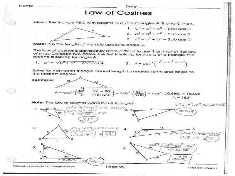 Law Sines Worksheets Free Worksheets Library