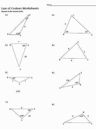 Law Sines Worksheet Beautiful Law Sines Cosines Worksheet Free Worksheets Library