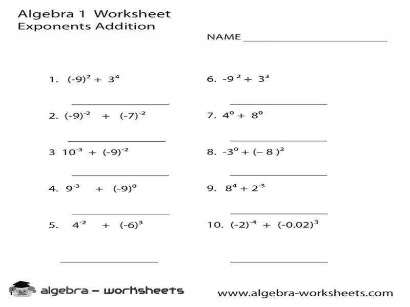 Laws Exponents Worksheet Answers Worksheets