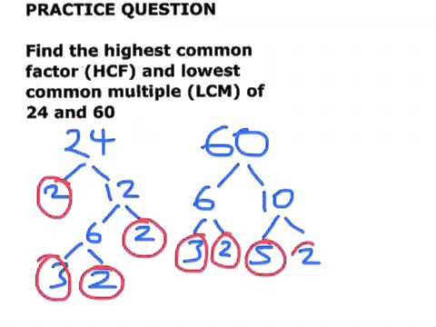 Highest mon factor HCF and lowest mon multiple LCM practice question and answer