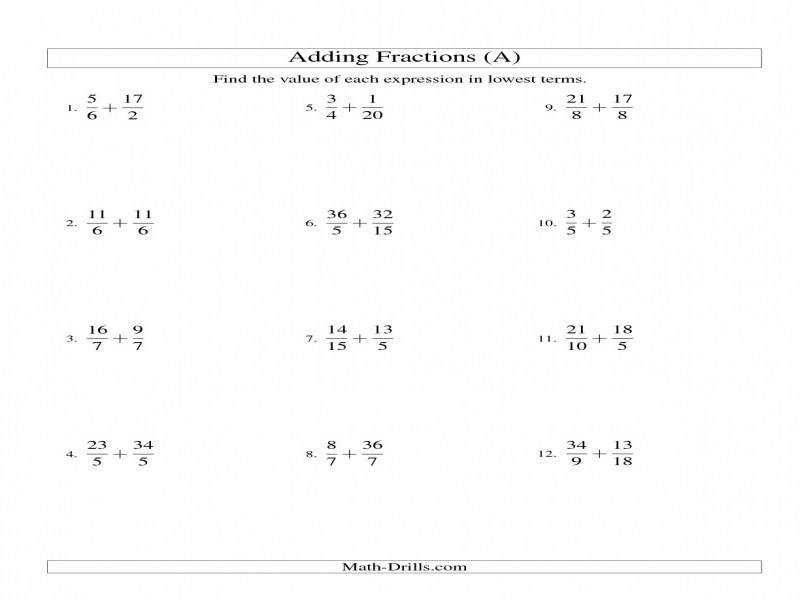 Least mon Denominator Worksheets Shishita World