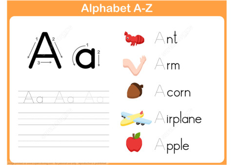 to see printable version of Letter A Tracing Worksheet Puzzle game
