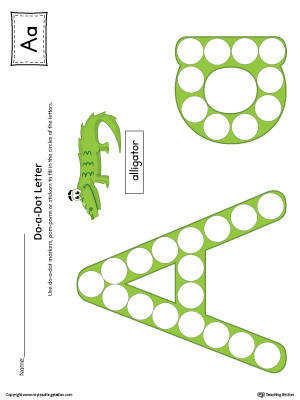 Letter A Do A Dot Worksheet Color