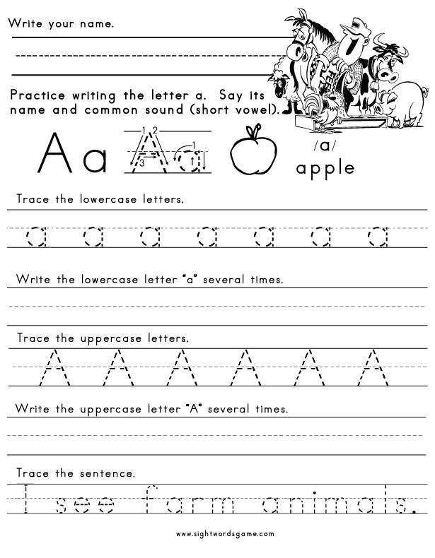 Letter A Worksheet 11