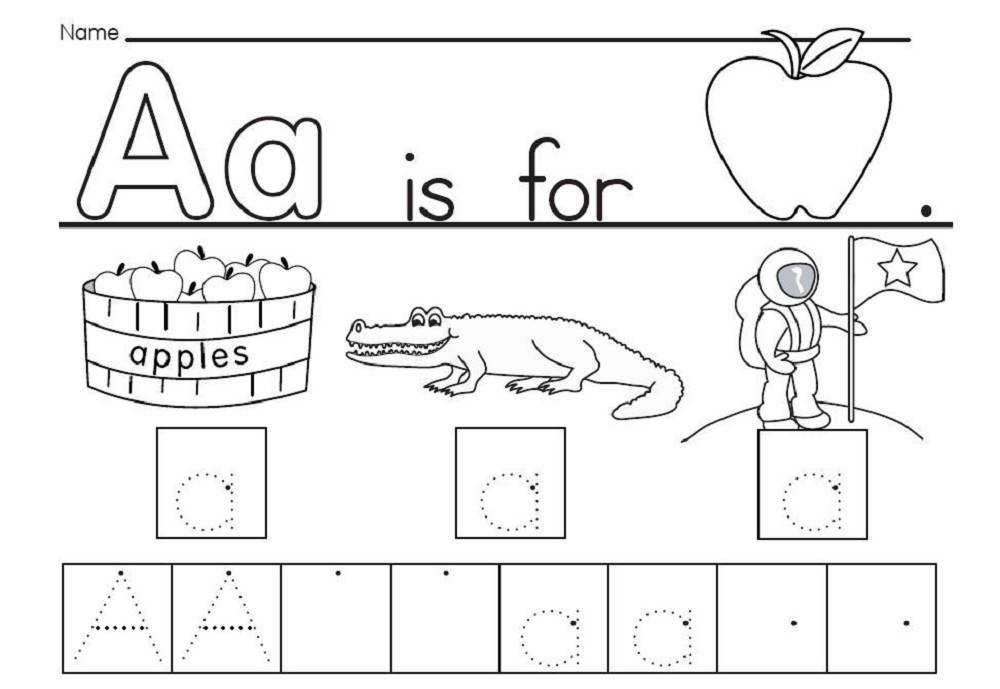 The letter a worksheets