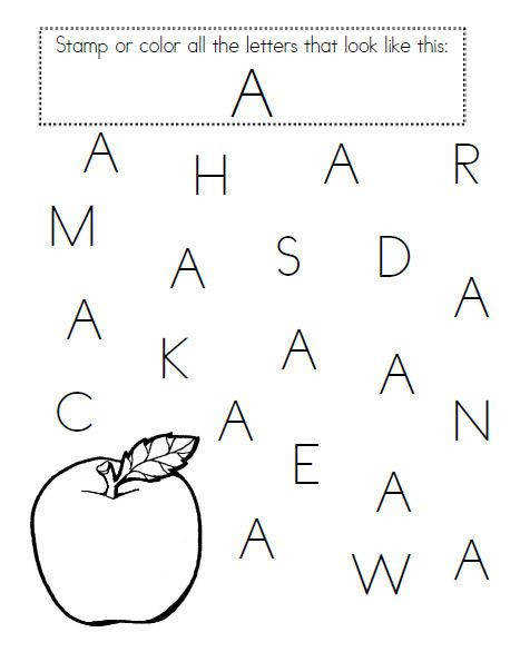 17 Best images about Letter A Worksheets on Pinterest
