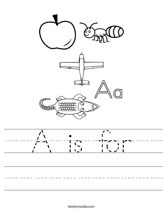 A is for Handwriting Sheet
